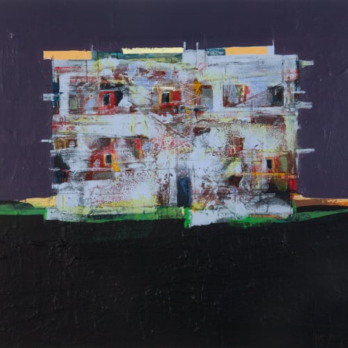 Robert McAulay  Community VI  acrylic on gesso panel  32cm x 34cm