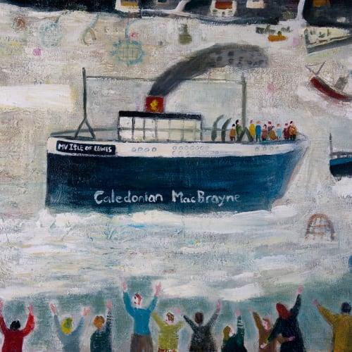James Newton Adams  Hooray for the Sunday Ferry  acrylic on canvas  51cm x 76cm