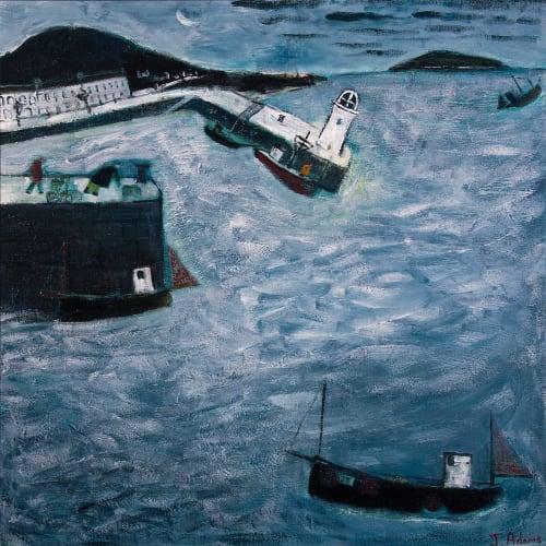 James Newton Adams  Night Waters  acrylic on canvas  76cm x 76cm
