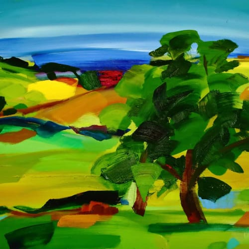 Shona Barr  Dorset Oak  oil on canvas  72cm x 92cm  28 x 36 in