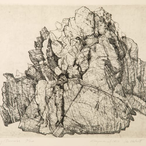 Ian Westacott and Raymond Arnold  Geology, Durness, 2003/4  etching  30cm x 40cm  Ed 3/20