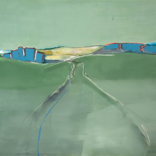 Sam Cartman  Tracklines, The Loch  oil on board  91.5cm x 122cm