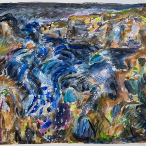 Fionna Carlisle  Brough  acrylic on paper  79cm x 88cm