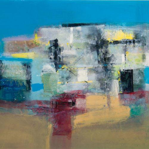 Robert McAulay  Fading Blue  acrylic on gesso panel  69cm x 95cm