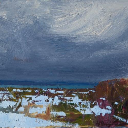 Allan MacDonald  Ground Snow, 2020  oil on canvas  25cm x 30cm