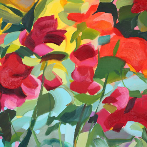 Shona Barr  Garden Greeting  oil on canvas  76.2 x 101.6 cm  30 x 40 in