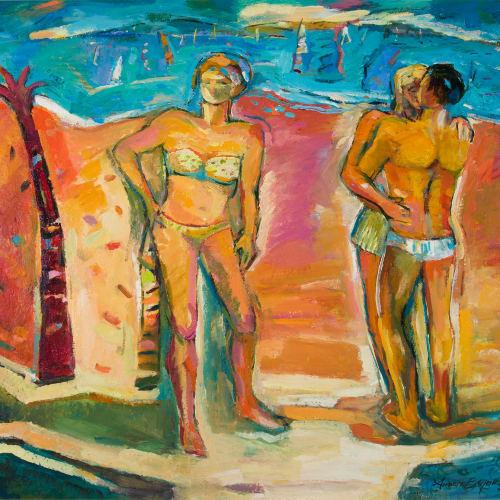 Annette Edgar  Beech Lovers  oil on linen  81cm x 91cm