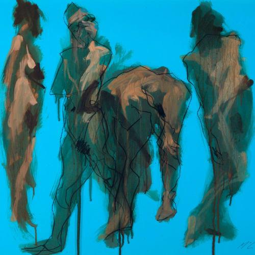 Alan McGowan  Alessandra x 4  oil and pastel on paper  59cm x 84cm