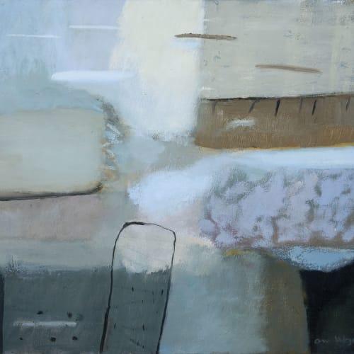Ann Wegmuller RSW  Flooded Land 1  oil on canvas  40cm x 50cm