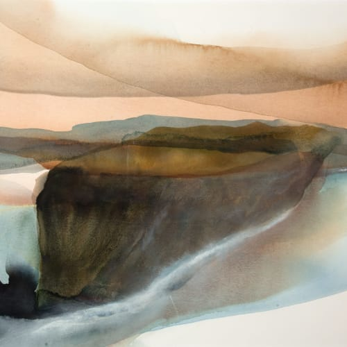 Peter Davis  Hog  watercolour chalk rubbing on paper  51cm x 70cm