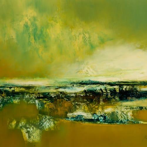 Kirstie Cohen  Landscape Study  oil on board  30cm x 40cm