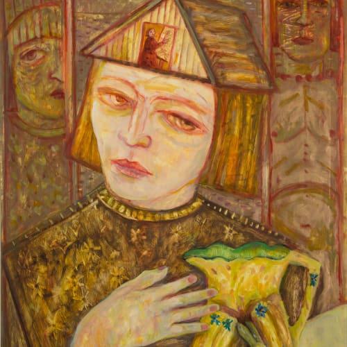 Joyce W Cairns  The Rabbit Jug  oil on panel  89cm x 63cm
