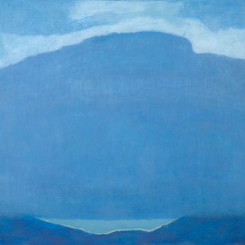 Jane MacNeill  Blue Cloud, Blue Mountain  oil on board  51cm x 61cm