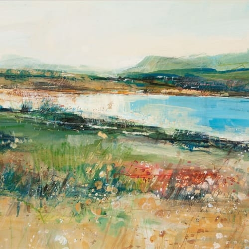 Sarah Carrington  Low Tide, Loch Spelve, Isle of Mull  mixed media with gold leaf  42cm x 59cm