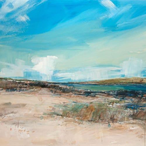 Sarah Carrington  White Cloud, Chalbha, Iona  mixed media  59cm x 84cm