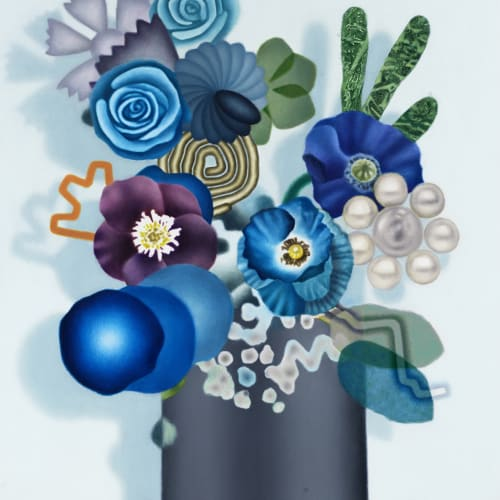 Amanda Baldwin, Coiled Cobalt Bouquet, 2020