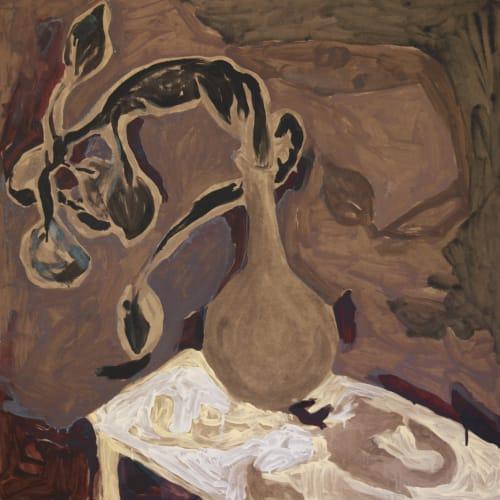 黨若洪 , 《花瓶裡的黑色桃枝》 Black peach tree in vase, 2007