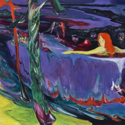 傅饒, 《夜浴》 Night Bath, 2020
