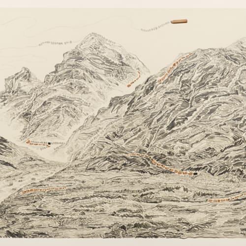 石晉華 , 《走筆#163 (岡仁波齊峰轉山)》 Pen Walking #163 (Pilgrimage to Mount Kailash), 2012 - 2016