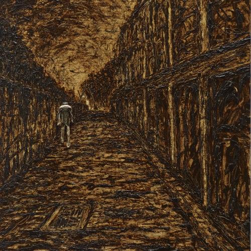 石晉華 , 《走在鐵路邊的巷子》 Walking in the Alley Alongside the Railway, 2016