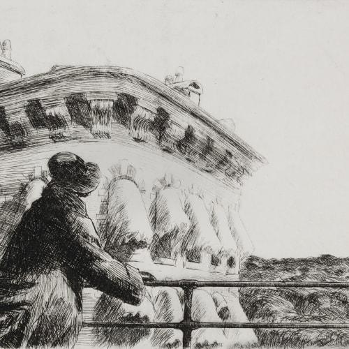 Edward Hopper, Girl on a Bridge, 1923