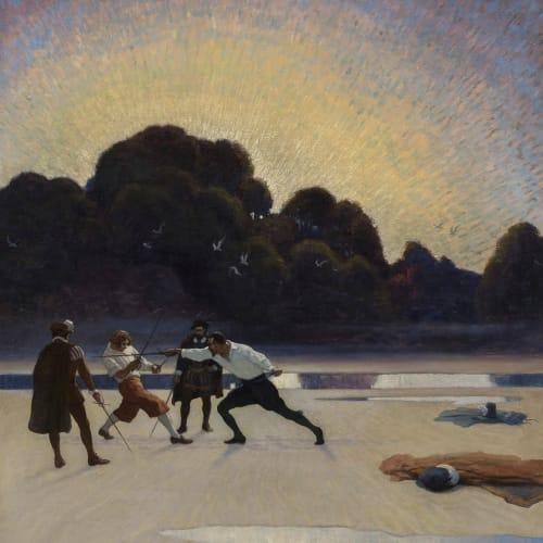 Newell Convers Wyeth, The Duel on the Beach, 1920