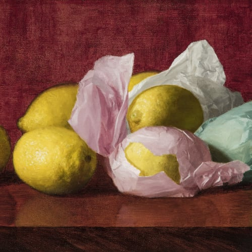 William McCloskey, Still Life with Wrapped Lemons, c. 1895