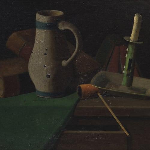 John Frederick Peto, Jug, Pipe and Candleholder