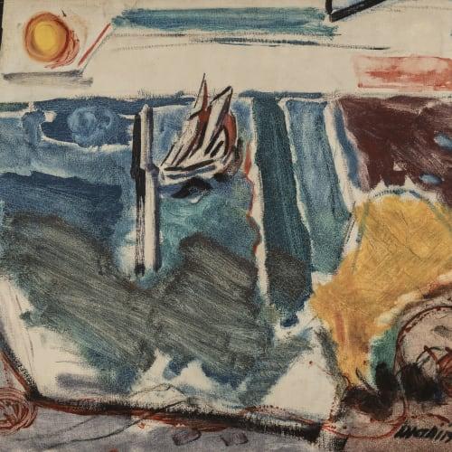 John Marin, Sailboat, Sea and Sun, 1921