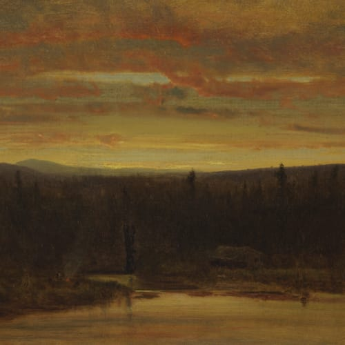 George Inness, Campfire at Sunset, 1867