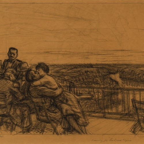 "Edward Hopper, Drawing for Etching ""Les Deux Pigeons"", 1920"