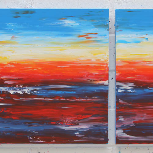 Evening Diptych 270613 80x120cm and 80x80cm