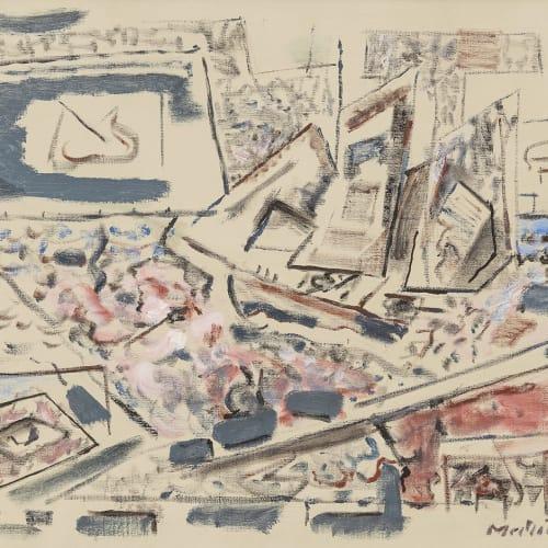John Marin, Movement: Sea Played with Boat Motive, 1947