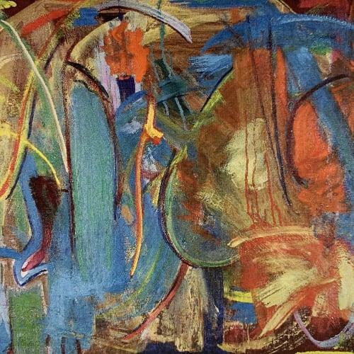 "Lynne Drexler, Opera, 1958, oil on canvas, 24"" x 36"","
