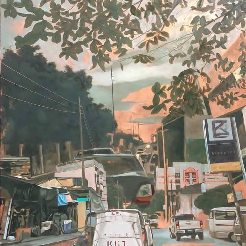 《SE8》 2019 油彩、蝕刻、銅版 76.2x90.96cm