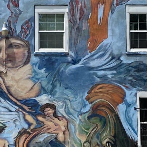 """""""The Triumph of Venus"""" Bakova Art Gallery Mural, 2021"""