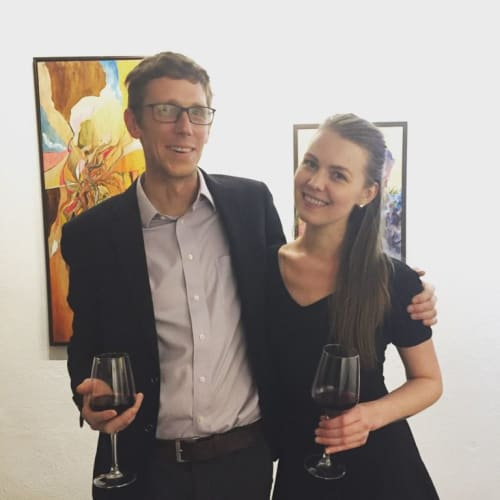 Nick with his wife and co-owner of Bakova Gallery, Anna Baldridge