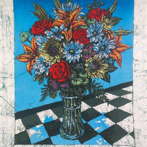 """""""Full Flowering,"""" batik, 50x40"""""""