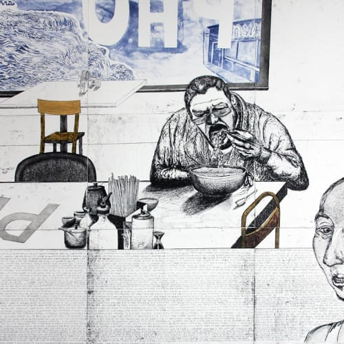 Daniel Heyman, Fall: Artist Eats Pho 2011