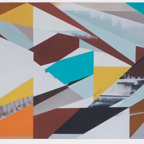 Jaime Gili - A495 Zacca Ouled, Acrylic on canvas. 80 x 225 cm