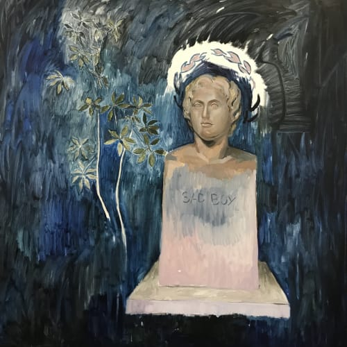 Alberto Torres Hernández, Alexandros Ho Megas, 2018, Oil on Canvas
