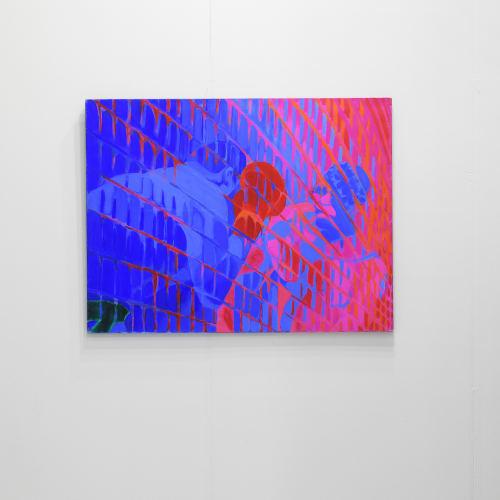 Titina Maselli, Boxeur e Palazzo II, 1992, acrylic on canvas, 89x116 cm, Ph. The Knack Studio, Courtesy Eduardo Secci, Firenze, Milano