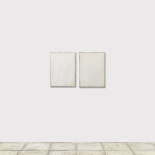 Pier Paolo CALZOLARI,Senza titolo, 2004, graphite sur papier, pastel gras, fer, cuivre, 77 x 124 x 6 cm