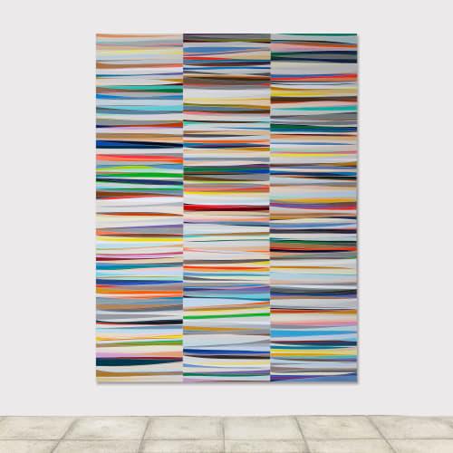 Xavier THEUNIS, Sans titre (Vue d'atelier #25), Vinyle adhésif verni sur aluminium thermolaqué, cadre en acier inoxydable, 240 x 180 x 2,5 cm