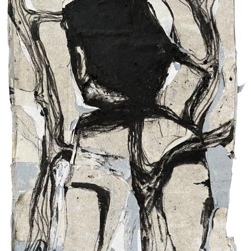 Jean Charles BLAIS, Sans titre, 2021, Huile sur affiche arrachées, 58 x 41,5 cm. Courtesy de l'artiste et de la galerie Catherine Issert