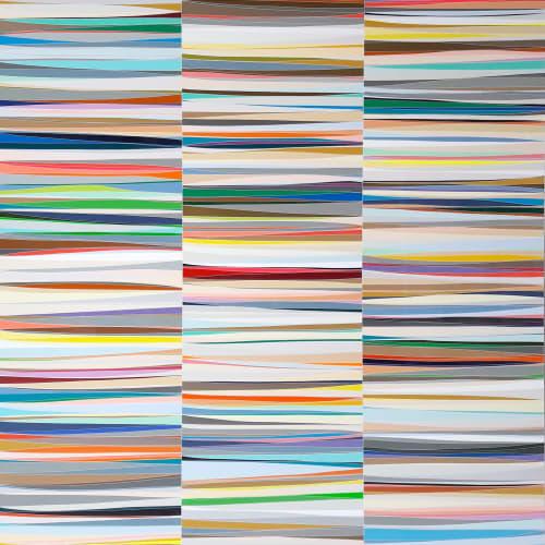 Xavier THEUNIS, Sans titre, vue d'atelier #25, 2019, 240x180 cm. Courtesy de l'artiste et de la galerie Catherine Issert