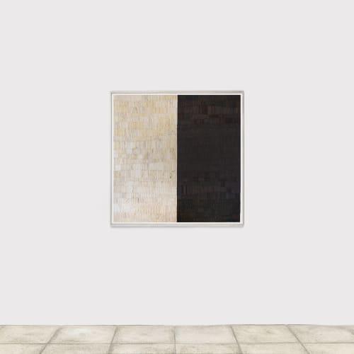 Minjung KIM, Story, Technique mixte sur papier Hanji, 118 x 118 cm.