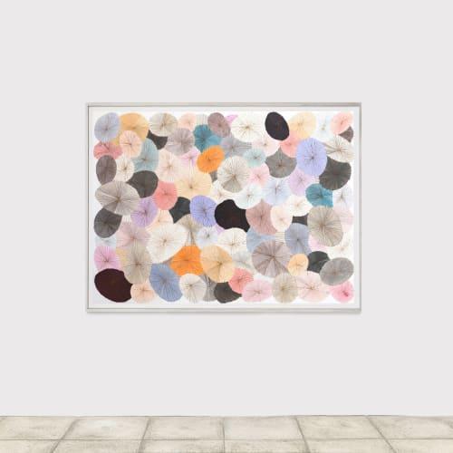 Minjung KIM, The street, 2021, Technique mixte sur papier Hanji, 130 x 180 cm.