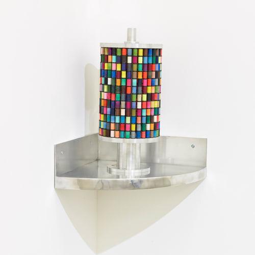 Pascal PINAUD Moulin à prières d'angle 51, x 40,5 x 40,5 cm