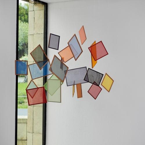 Vue de l'expostion Cécile BART Je suis bleue Musée national Marc Chagall 2021 © Anthony Lanneretonne